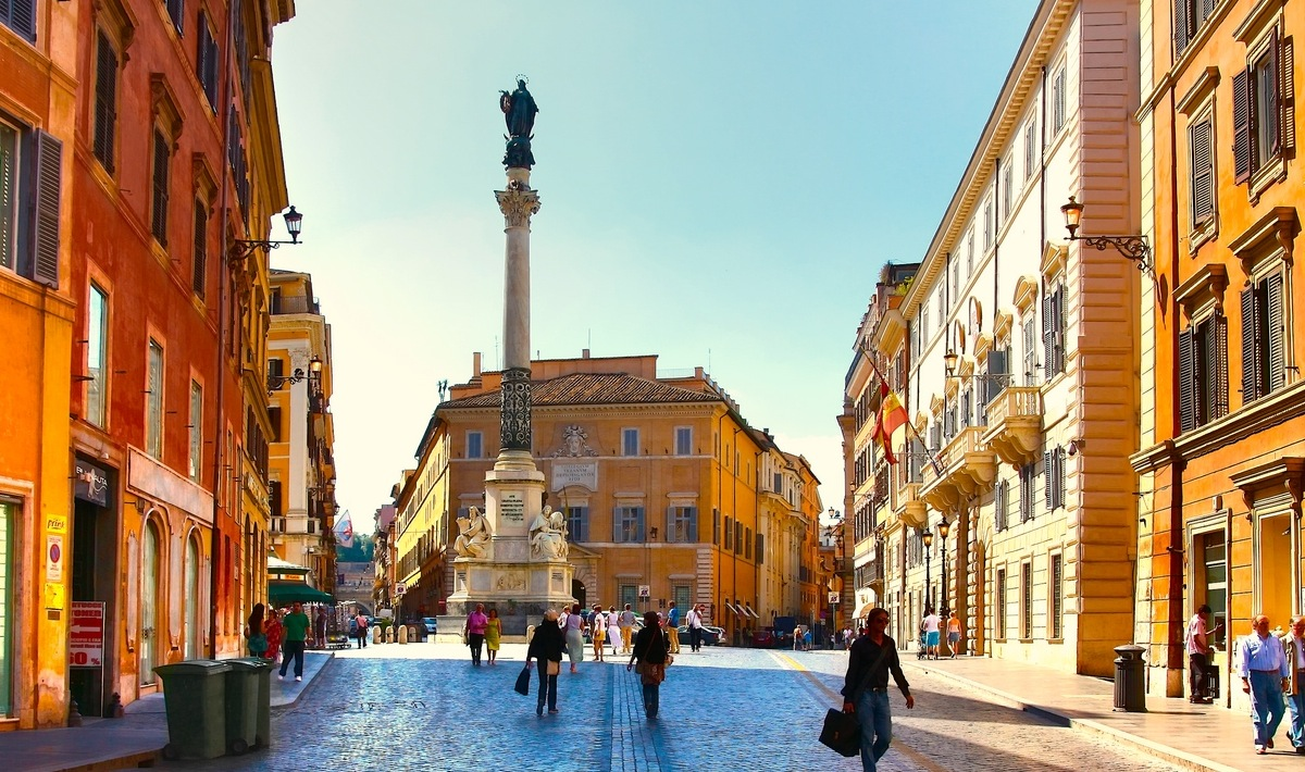 Piazza dei Spagna, Rom